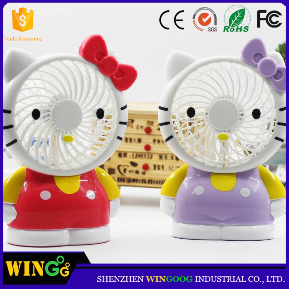 New 2017 Product idea Table Rechargeable Mini Fan Cartoon