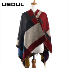 2017 Goatskin Color Large Cashmere Wool Autumn Winter Scarves Women Shawls