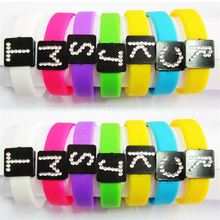 Manufacturer sale many colors interesting printable silicone bracelet