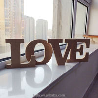Home Wedding Decoration Free standing Wooden Lettter Words