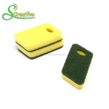 Seaweed foam with hole scourer cleaning irregular kitchen sponge