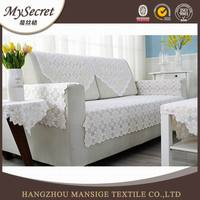 Newst 100% polyester indian sofa cover and i shape lace sofa back cover