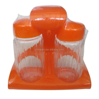 Hot sale kitchen plastic cruet set