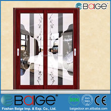 BG-AW9139 exterio glass partition powder coated aluminium sliding doors