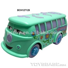 Plastic toy city bus