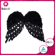 black feather silk fabric butterfly wings for dance