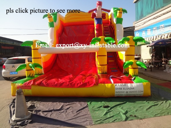 commercial inflatable slide palm tree inflatable slide for kids