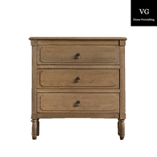 bedroom furniture Three drawers cheap wooden bedside table nightstand