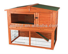 Classic 2 storey wooden rabbit hutch