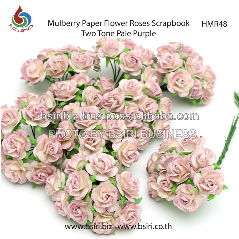 handmade mulberry paper flowers for scrapbooking