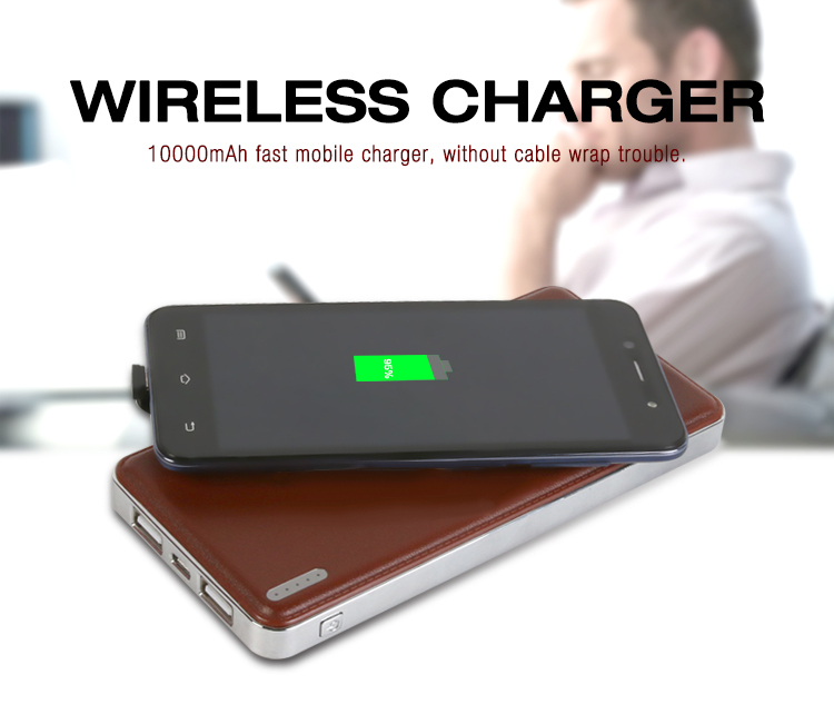 wireless power bank 10000mAh for smartphones charging