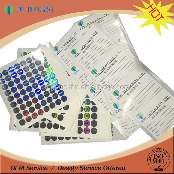 Custom made paper material sticker/labels
