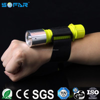 Portable swiming100m underwater torch light q5 led waterproof diving flashlight