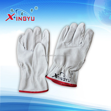 14-18 length heat resistance gray cow leather TIG welding glove