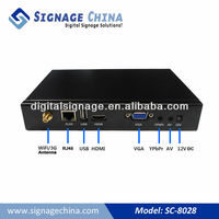 SC-8028 Network Digital Signage Advertising Media Player TV Box With Powerful Embedded Software