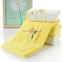 Made in China and OEKO-TEKS certified Quality guaranteed vegetable dyed great price hand towel with embroidery design