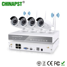 New Arrival H.264 NVR Kit Outdoor Waterproof IP66 720P CCTV 4ch Wireless IP WIFI Camera system PST-WIPK04AL