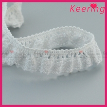 High quality cheap simple crocheted cotton lace in bridal color
