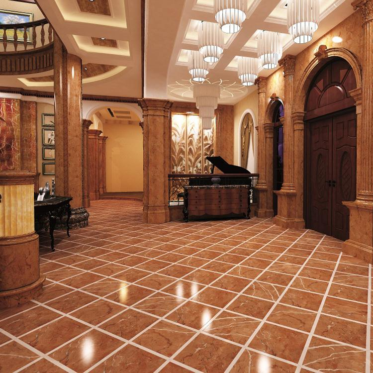 Discount modern home design natural stone promotional red line cream marble tile