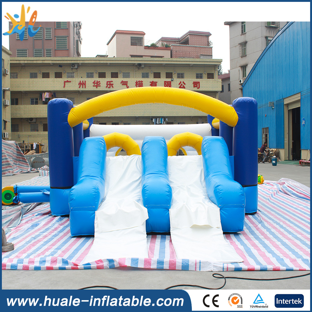 6*4*2.5m customized inflatable dry slide inflatable trampoline combo for sale