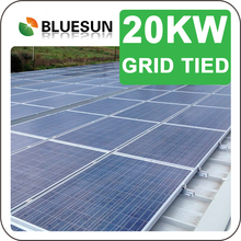 25 Years Warranty Solar Power Plant 20KW Ground And Roof Mounting PV System