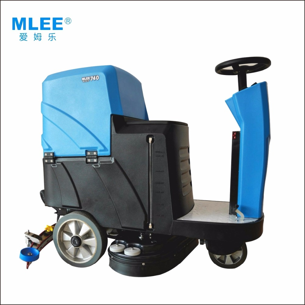MLEE740SS Electric Scrubber Warehouse Storehouse Gym Marble Ride On Floor Cleaning Machine