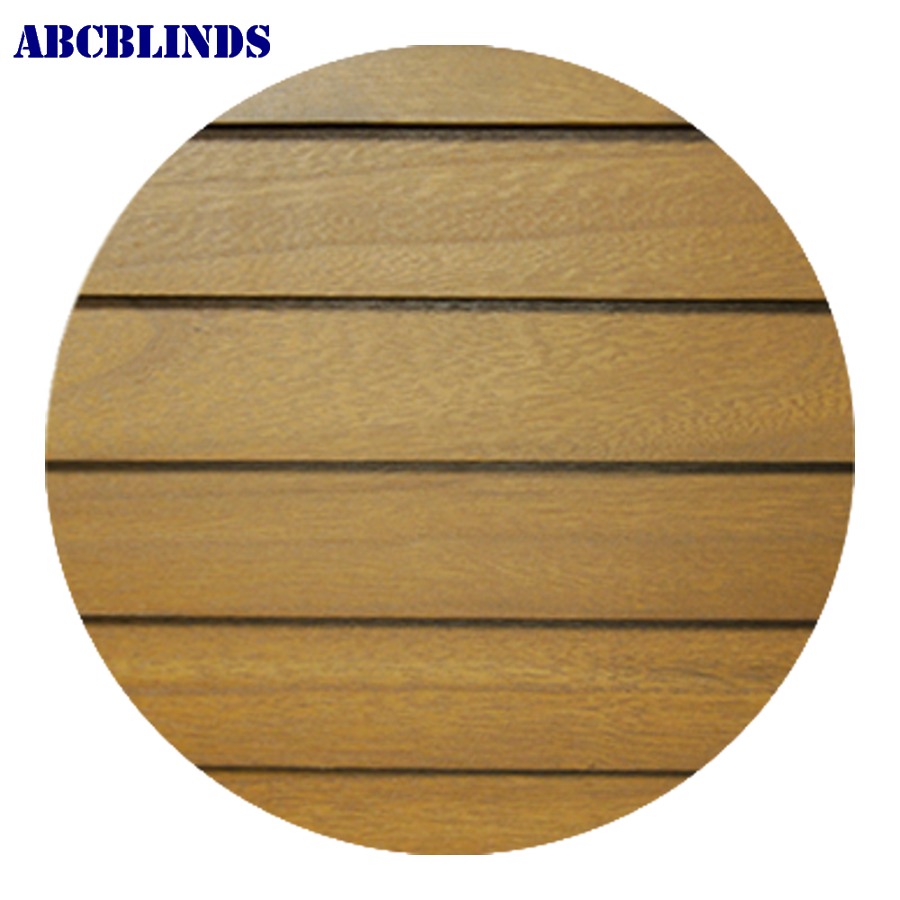 Decorative wood slats profiles roller blinds