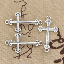 Cross charms wholesale metal cross connector charms pendant for jewelry making 35*19mm