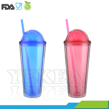22 oz Rugby Spherical Cap Lid Double Wall OEM Plastic Tumbler Cup