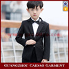 Quality Fashion Black Slim Fit 4pcs Suits Dress For Children 2016