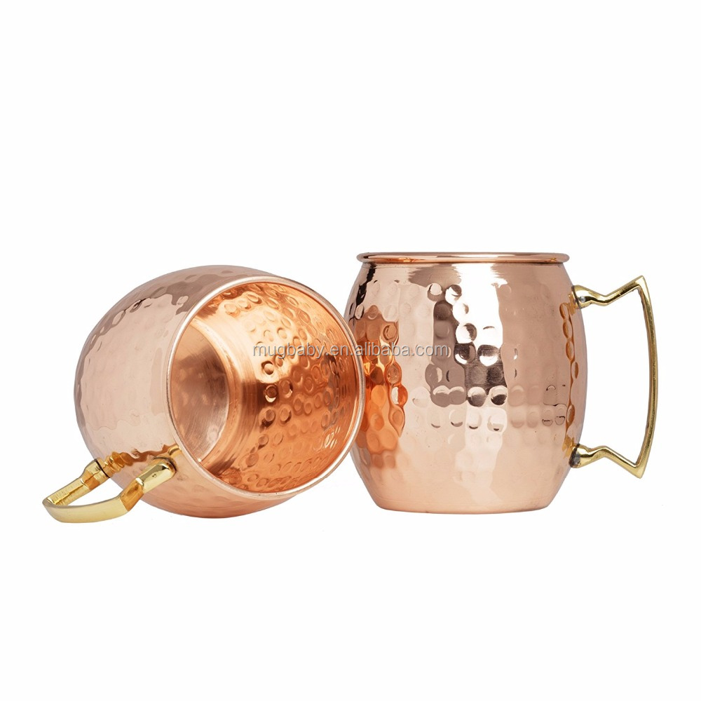 16oz Hammer Point Plating Copper Mug High Quality Stainless Hot Sale Water <strong>Cups</strong>