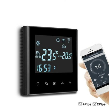 Digital AC Wifi Thermostat With 3 Speed Fan Coil Controller
