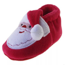santa claus red baby men's moccasins leather or cotton material as customize