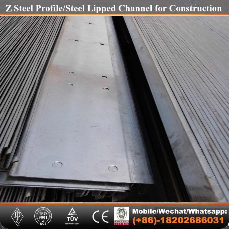 Tianjin factory-014 Z steel purlin for steel framing roof/ceiling battens