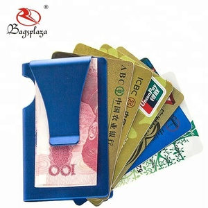 Stainless steel card holder brass parts money clip gold hinged titanium money clip metal customized logo
