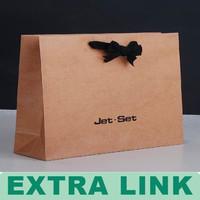 Guangdong Supplier Printing Packaging Custom Made brown Kraft Paper Bag