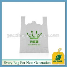 Retail packaging T-shirt handle plastic bag with own logo