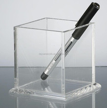 Clear Acrylic Wall-Mounted Pen Holder/Transparent Pen Box