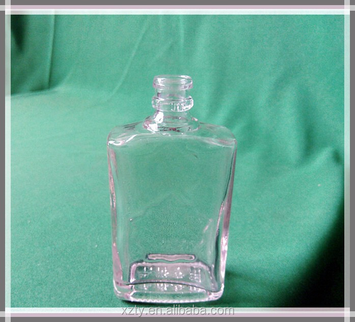 135ml glass rectangullar bottle for white wine