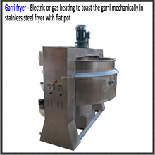 Gas heating type gari fryer for garri making machine
