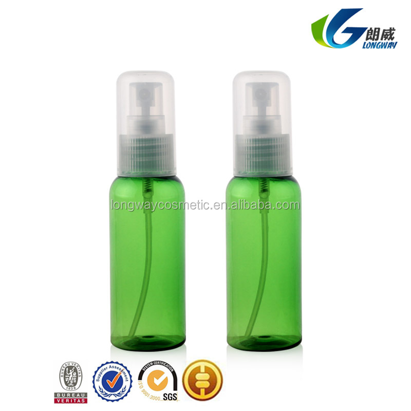 50ml Plastic PET Round Bottle with All Cap Fine Mist Sprayer China Supply 15ml/30ml/40ml/50ml/60ml/100ml
