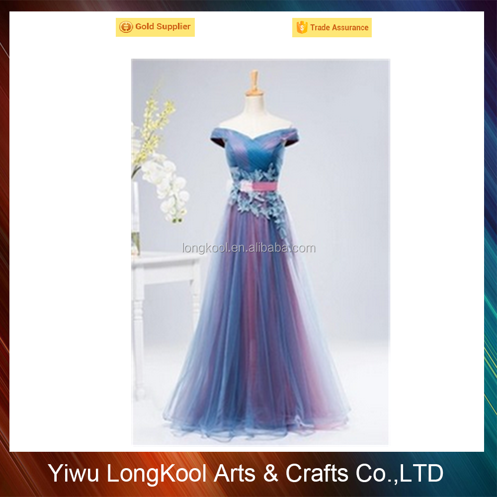 Yiwu Longkool factory direct sales cheap colorful evening dress top quality! sexy girls evening dress