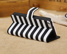 Twin Color Zebra Stripe Folio PU Leather Case Cover for iPhone 5C New