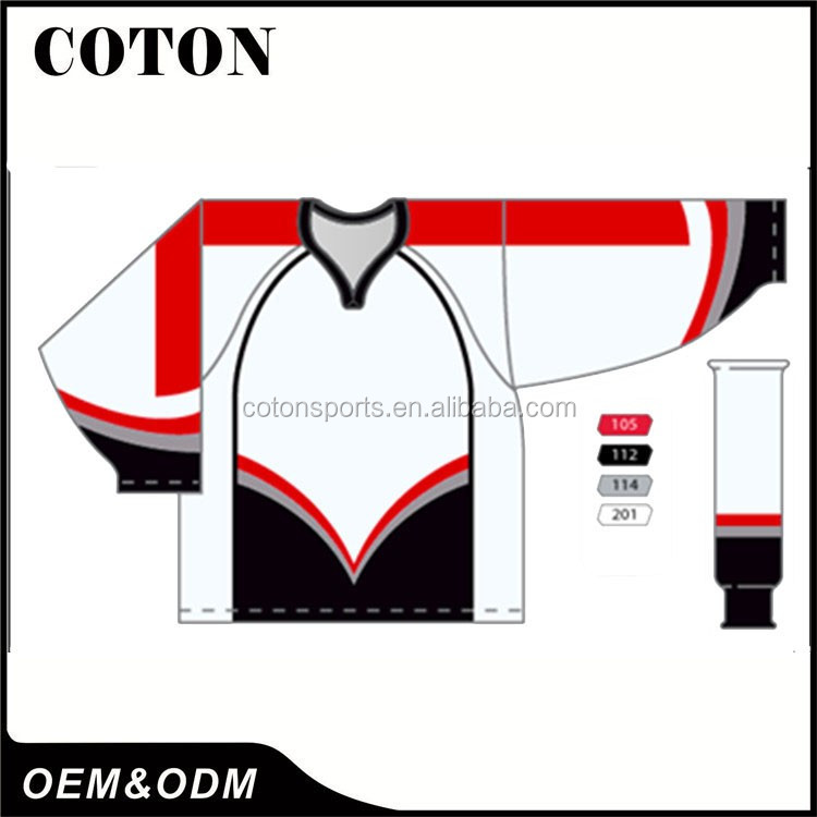 Direct factory china college hockey gear with new clothing and apparel