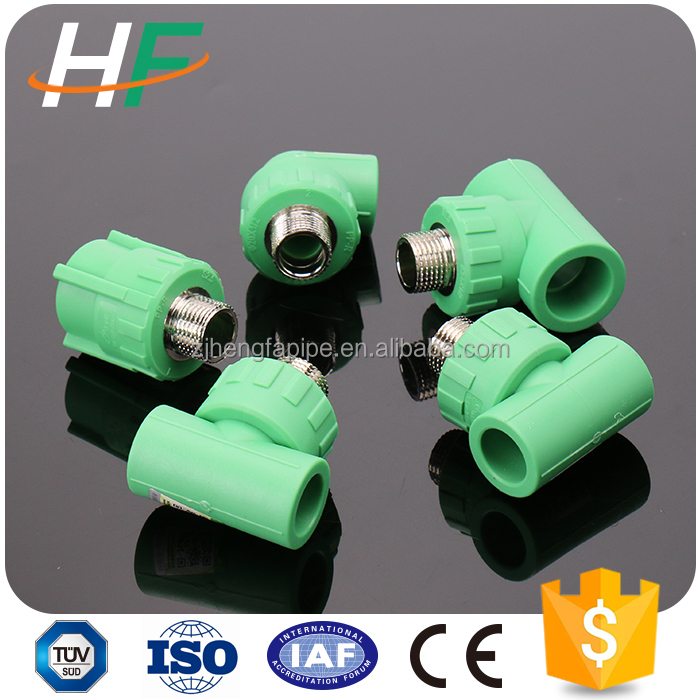 Supply ppr male tee threaded black plastic water line pipe fittings