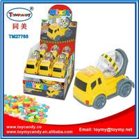 Made in china most popular products promotional concrete mixer truck toy with candy toy truck for kids