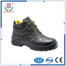 Genuine leather safety footwear with steel toecap and steel plate