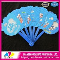 Sales Promotion Good Quality Professional Printing Colourful Mexican Hand Fans With Nice Printing