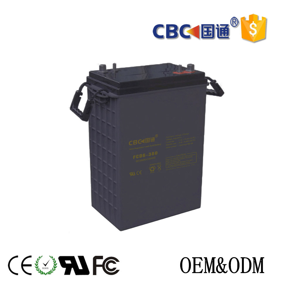 Solar FCD deep cycle storage battery for solar system ups solar street light 6V380AH