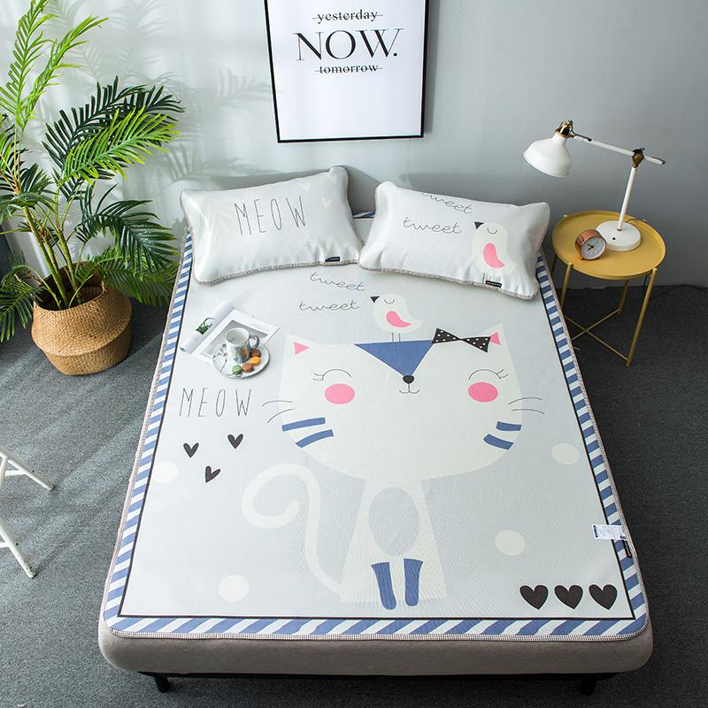 New fashion all-polyester skin-friendly breathable dehumidification mattress 3D ice mat three pieces - Jozy Mattress | Jozy.net